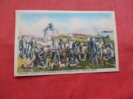 Battle Of Bunker Hill  Painting Boston Mass    Ref 3213 - History