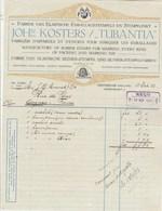 Pays Bas  Facture Illustrée 13/10/1913 John KOSTERS Tubantia Fabrique Appareils & Encres Pour Emballages AMSTERDAM - Pays-Bas