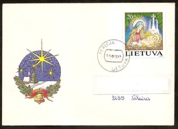 LITHUANIA / LITAUEN 1994 Christmas / Weihnachten Letter Posted Inside Lithuania From Perloja /Mi 572 - Lithuania