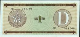 CUBA -  1 Peso Nd. {Foreign Exchange Certificates} UNC P. FX32 - Cuba