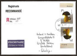 LITHUANIA / LITAUEN 1997 Fungi / Pilze Letter Posted To Germany /Mi 649 - Lithuania