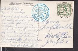 Postkarte Deutsches Reich Stempel Schneekoppe 1936 - Deutschland