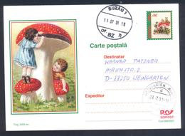 Romania 2001 Postal Stationery Card: Flora Mushroom Pilz Champignon Fungi; Red Mushroom; - Pilze
