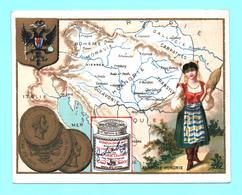 Figurina, Chromo LIEBIG S. 34 Carte Geografiche E Monete, Cartes Géographiques, Autriche-Hongrie. Molto Rara, Très Rare! - Liebig