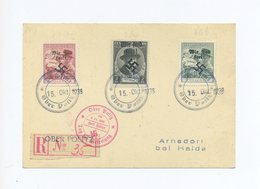 1938 Sudetenland Einschreibekarte Mit Rumburg Überdrucken ? Oder Privater  Befreiungsstempel Gest. Ober Politz - Sudetenland