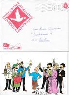 TINTIN POSTOGRAM OBLITERE 1992 (RARE) - Belgique