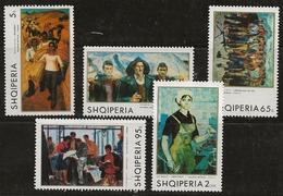 Albanie 1970 N°Y.T. :  1257 Et 1259 à 1262 ** - Albania