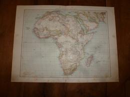 1884 Carte Géographique :Recto (Afrique Physique Et Politique); Verso (Egypte,Algérie,Tunisie, Etc) - Geographical Maps