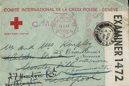 Lettre De La Croix Rouge Internationale à Genève- Ouverte Par La Censure Anglaise-Envoyée Le 13/01/1941 De Genève. - Organisations
