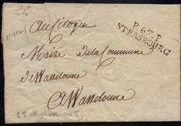 "STRASBOURG - ALSACE / 1819 PORT PAYE ""P 67 P / STRASBOURG"" SUR LAC POUR WASSELONNE (ref 5419f) - Alsace-Lorraine"