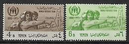 UAR 1960 YEMEN World Refugee Year Complete Set MNH - Refugees