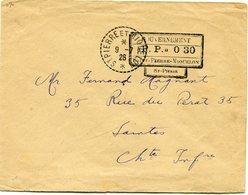 """SAINT PIERRE ET MIQUELON LETTRE AVEC CACHET """"GOUVERNEMENT P. P. 0 30 SAINT-PIERRE-MIQUELON ST-PIERRE"""" DEPART............ - Lettres & Documents"""