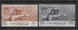 UAR 1960 PALESTINE World Refugee Year Complete Set MNH - Refugees