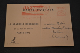 Carte 1964 EMA Pub JAZ La Plus Forte Production Mondiale De Pendules - Postmark Collection (Covers)