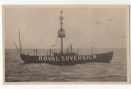 Royal Sovereign Lightship Sussex Vintage RP Postcard FL Phillips - Bateaux