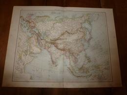 1884 Carte Géographique :Recto (Asie Physique Et Poli); Verso ( Chine Et Japon) ; (Asie Mineure ;Perse) Etc - Geographical Maps