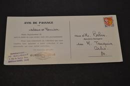 Carte 1960 Cachet Lineaire CORBIE Somme Pub EUROP ECRINS Bijouterie - Marcophilie (Lettres)