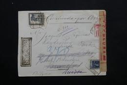 ESPAGNE - Enveloppe En Recommandé De Barcelone Pour Bruxelles Redirigé Vers La Suisse En 1937 , Censure  - L 24839 - Republikanische Zensur