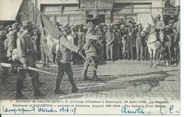 """CPA FRONT D'ORIENT SALONIQUE CACHET MILITAIRE """"1er Arrivage D'Italiens"""" - Grecia"""