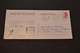 Carte 1983 Flamme Ondulée PUB JAZ Le Bon Temps JAPY - Storia Postale