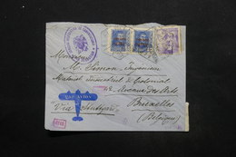 ESPAGNE - Enveloppe De San Sebastian Pour Bruxelles En 1940 Par Avion , Contrôles Postaux - L 24840 - Marcas De Censura Nacional