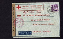 Lettre De La Croix Rouge Néerlandaise Envoyée De Samarang En Indonésie - Ouverte Par La Censure Néerlandaise - - Organisations