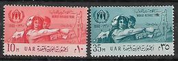 UAR 1960 EGYPT World Refugee Year Complete Set MNH - Refugees