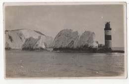 The Needles Isle Of Wight 1911 RP Postcard Lighthouse - Angleterre