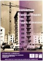 CPM Carte Postale Publicitaire EXPOSITION PAYSAGES URBAINS DES TRENTE GLORIEUSES 2016 Guebwiller Haut-Rhin Pub Promotion - Expositions