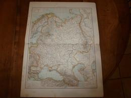 1884 Carte Géographique :Recto (Russie D'Europe) ; Verso ( Pologne , Caucasie)  Etc - Geographical Maps