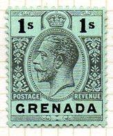 AMERIQUE CENTRALE - GRENADE - (Colonie Britannique) - 1913-21 - N° 75 - 1 S. Noir S. Vert-jaune - (George V) - Amérique Centrale