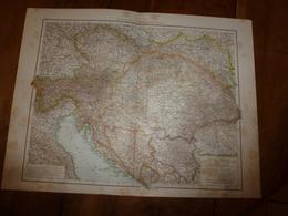 1884 Carte Géographique :Recto (Monarchie Austro-Hongroise) ; Verso (Alpes Franco-Italiennes) , (Hongrie) Etc - Geographical Maps