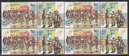 INDIA 2018 Central Industrial Security Force, Set 2v Setenant,  Block Of 4,, Militaria, MNH(**) - Inde