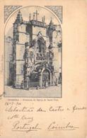 Coimbra - Frontaria Da Egrefa De Santa Cruz 1901 - Coimbra