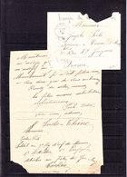 INDOCHINE 1891 LETTRE DE YEN BAI AVEC COURRIER DU 9IEME REGIMENT INFANTERIE DE MARINE - Indochine (1889-1945)