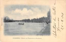 Coimbra - Barco De Passagem Ao Almegue 1901 AKS - Coimbra