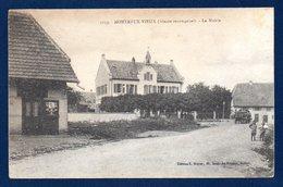 68. Montreux-Vieux. La Mairie. Franchise Trésor Et Postes. Janvier 1919 - Frankrijk