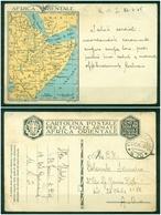 Z610 ITALIA REGNO 1936 Franchigia Militare Cartina Africa Orientale, Interitalia 17 FMA, Viaggiata Da PM 26.6.36 Per Afr - 1900-44 Vittorio Emanuele III