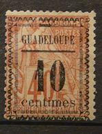 "GUADELOUPE - N° 7 - Neuf * -  Variété : Fleurons Type I ( Maury ) - ""centimes"" = 11.5 Mm - TB - - Unclassified"