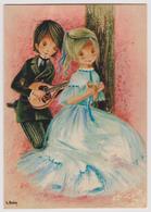 Couples Romantiques - Ed. Yvon N° 40-128-06 - Par L. Dobon Illustrateur - Mandoline - Couples