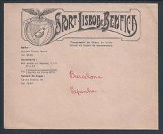 Rare Letter From Sport Lisboa E Benfica. Soccer. Futebol. Eusebio. Fußball. Football. Fodbold - Sport