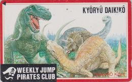 TC Japon / 110-011 - MANGA - WEEKLY JUMP PIRATES CLUB - DINOSAURE Dinosaur - ANIME Japan Phonecard - 11004 - BD