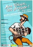CPM Carte Postale Publicitaire 8e Festival MON VOISIN CET ARTISTE Strasbourg Quartier Gare 2015 Musique De Rue Jean Arp - Manifestations