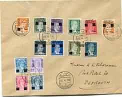 TURQUIE LETTRE DEPART ALEXANDRETTE 10-4-39 POUR LE LIBAN - 1934-39 Sandjak Alexandrette & Hatay