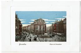 Bruxelles - Place De Brouckère - Carte Aquarellée - Félix Cohn 09 7542 - Etat Neuf !  - 2 Scans - Places, Squares