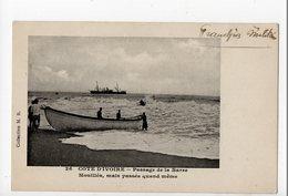 COTE D'IVOIRE - Pêche - Passage De La Barre - Franchise Militaire - Côte-d'Ivoire