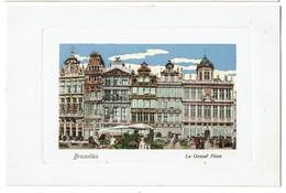 Bruxelles - La Grand' Place - Carte Aquarellée - Félix Cohn 09 7576 - Etat Neuf !  - 2 Scans - Places, Squares