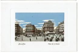 Bruxelles - Place De La Bourse - Carte Aquarellée - Félix Cohn 09 7553 - Etat Neuf !  - 2 Scans - Places, Squares