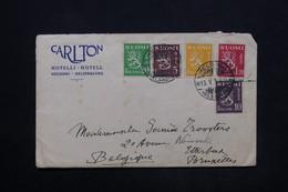 FINLANDE - Enveloppe De L 'hôtel Carlton à Helsinki Pour Bruxelles En 1930 , Affranchissement Plaisant - L 24863 - Finland