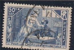 ///   FRANCE - N° 307  Chomeurs Intellectuels Côte  Obl  3€ - Oblitérés
